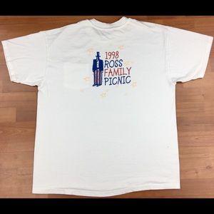 VTG 1998 Ross Family Picnic Men's Pocket T-Shirt